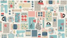 Makower Fabric Montage sewing 2134
